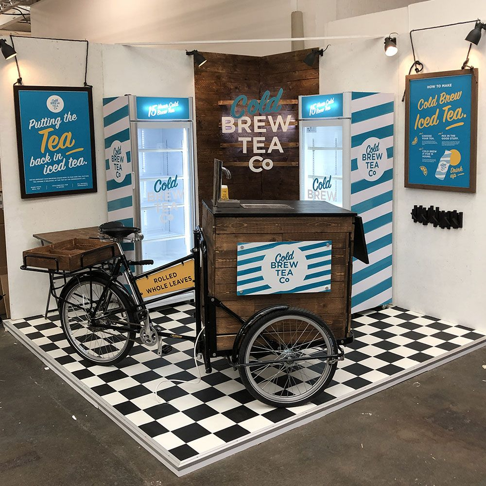 Customer Booth Builder - Brew Tea Co Tea Serving Stand