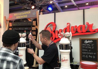 Customer Booth Builder - Budvar Beer Serving Bar at Brew LDN
