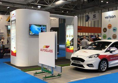 Customer Booth Builder - Auto Glass Fleet Live Stand