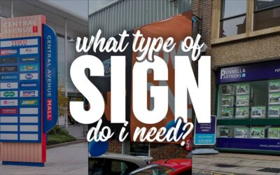 What type of sign do I need?