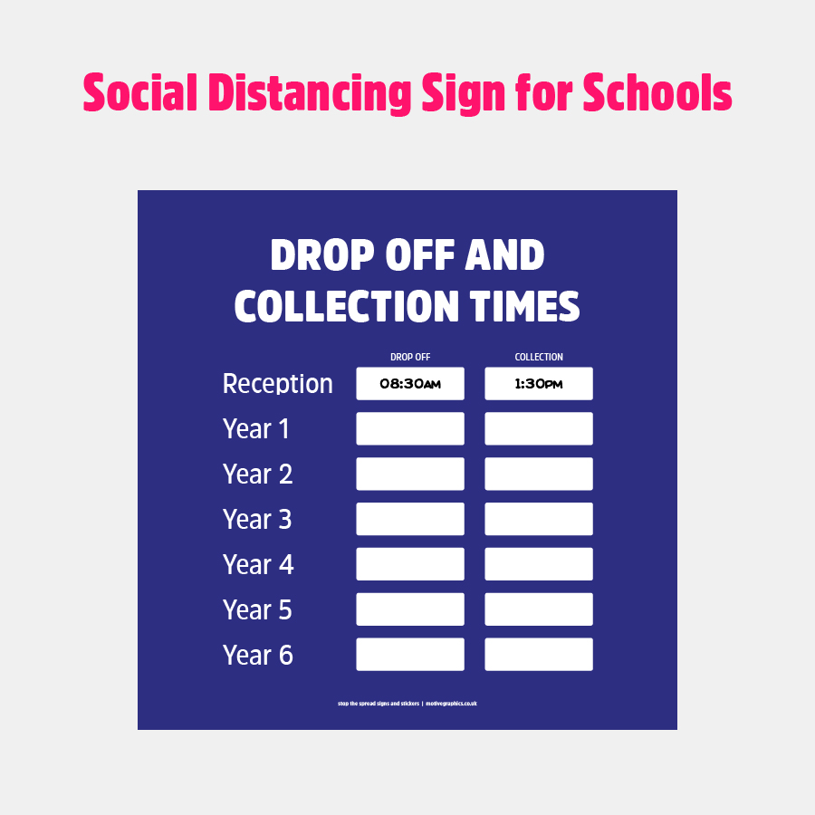 Drop Off & Collection Times
