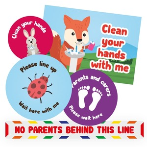 Social distancing stickers for schools 2