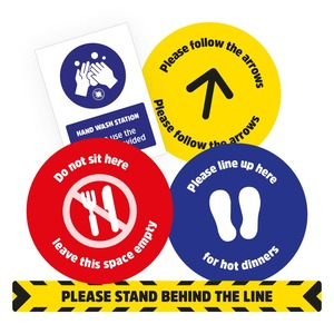 Social distancing stickers for schools 3