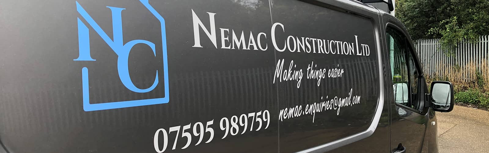 Construction Company Van Graphics for Tradesmen in Huntingdon