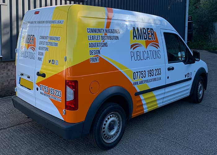 Vehicle Graphics in Huntingdon for Small Vans