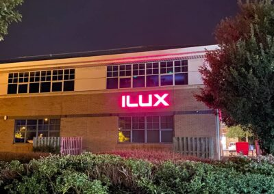 Illuminated Built Up LED Lettering for ILUX Head Office