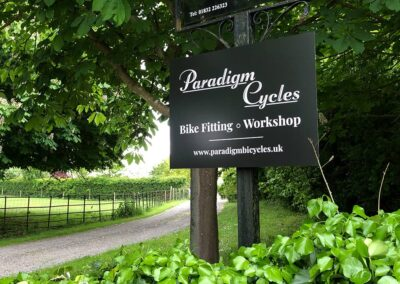 Roadside Sign for Cycling Company in Peterborough