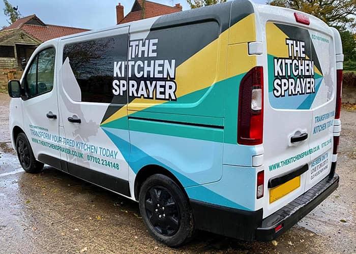 Van Half Wrap Vivaro Vehicle Graphics for Kitchen Sprayer