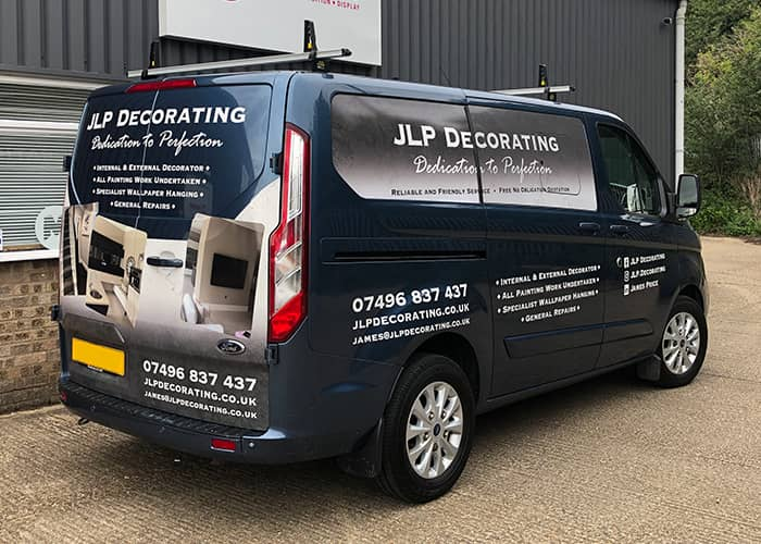 Van Wrap for Decorating Company on Transit Custom