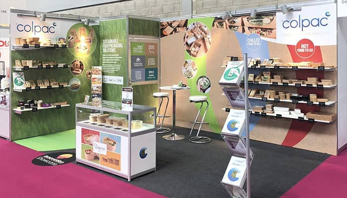 Environmentally friendly exhibition stand for Colpac in Bedford