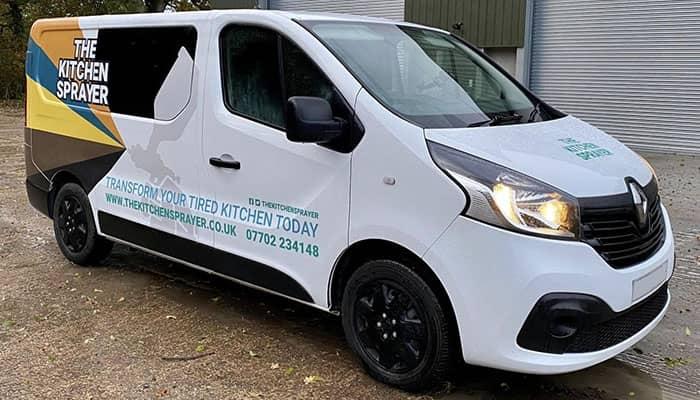 Vehicle wrap on Vauxhall Vivaro in Cambridgeshire
