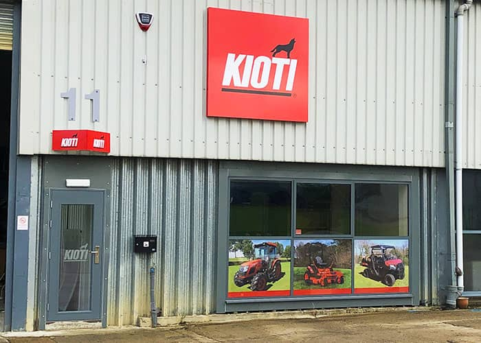 Commercial Window Graphics for Kioti UK St Neots