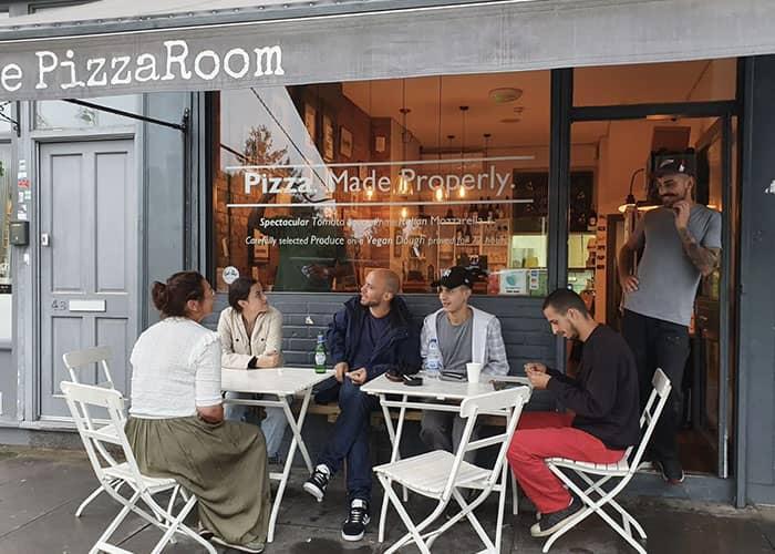 Cut Vinyl Window Graphics in Pizza Restaurant