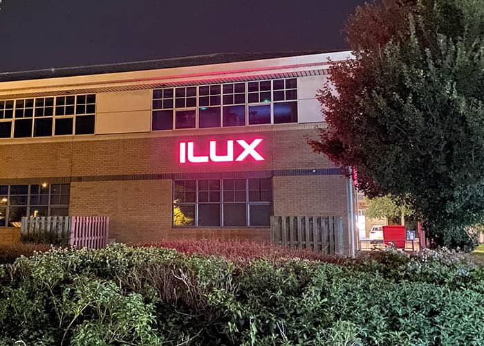 Illuminated letters for ILUX in St Ives