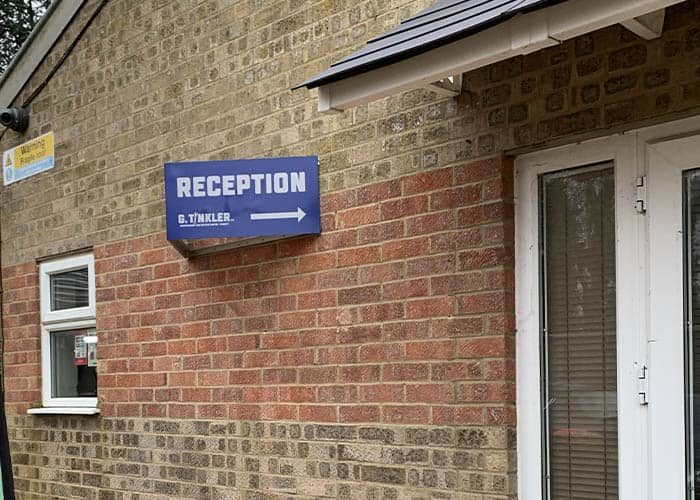 Reception Angled Sign