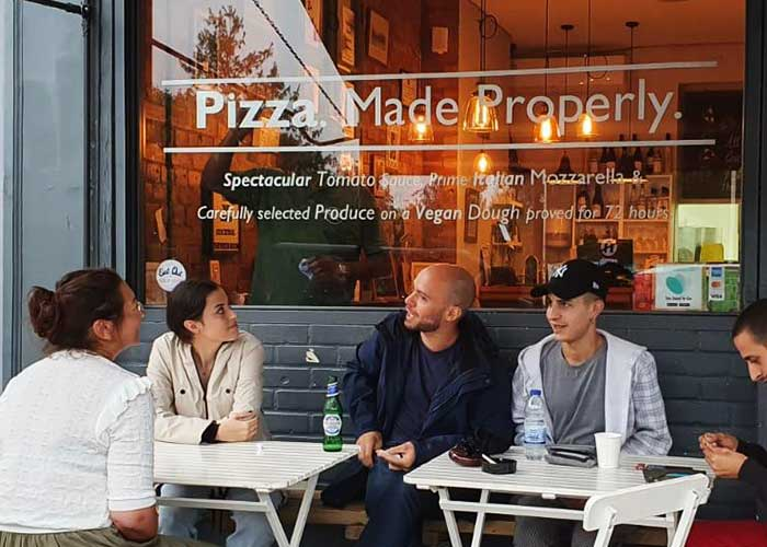 Cut Vinyl Window Graphics | Window Vinyl for Pizza Room London