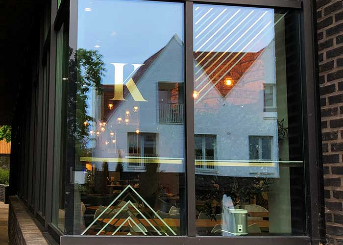 Metalised Film Window Graphics | Gold Window Vinyls for The Kitchen by Clever Chefs